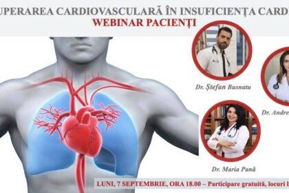 Webinar pacienți - recuperarea cardiovasculară în insuficiența cardiacă