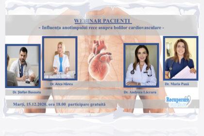 Webinar pacienți - influența anotimpului rece asupra bolilor cardiovasculare